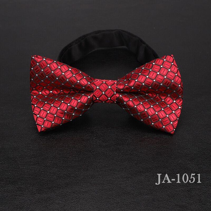 Дизайнерский галстук-бабочка, высокое качество, мода, мужская рубашка, аксессуары, темно-синий, в горошек, галстук-бабочка для свадьбы, для мужчин,, вечерние, деловые, официальные - Цвет: 1051
