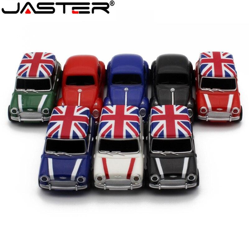 JASTER Symulacja samochodu 64GB USB Mini Kreatywny Cooper Samochody Modelu usb 2 0 flash memory stick pen drive 4GB  16GB 32G