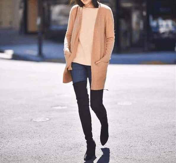 ต้นขาสูงรองเท้าผู้หญิง Suede กว่าเข่ารองเท้าส้นสูงเซ็กซี่งานแต่งงาน Overknee รองเท้าฤดูใบไม้ร่วงฤดูหนาวรองเท้าสีดำสีเทา