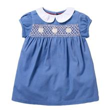 kids baby girls clothes dress flower print short sleeve