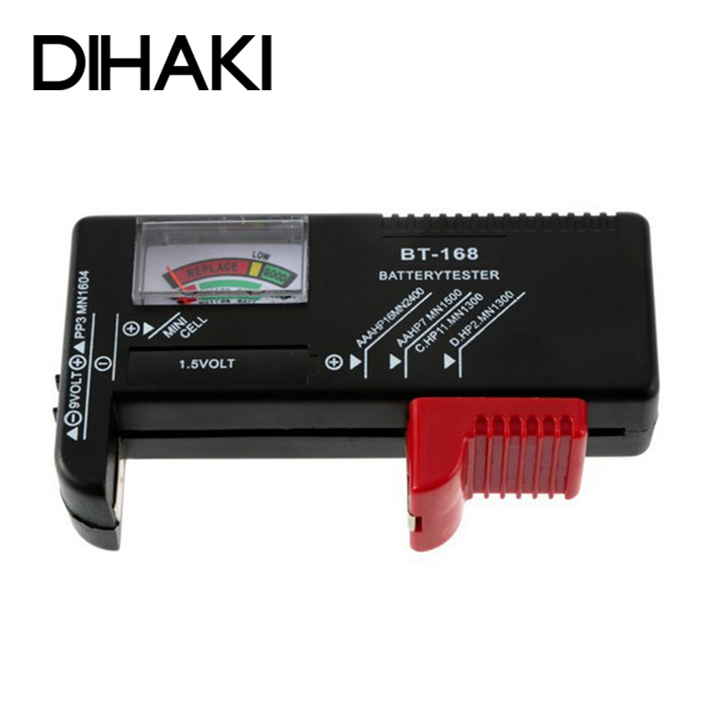 Universal Battery Capacity Tester Aa Aaa C D 9v 1 5v Button Cell Batteries Colour Coded Meter Indicate Volt Tester Checker Current Meters Aliexpress