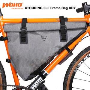 WOHO BIKEPACKING ультралегкие Каркасные сумки, полностью водонепроницаемые велосипедные сумки для MTB, дорожные велосипедные сумки, гравийные вело...