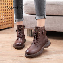 Ladies Shoes Punk-Boots Vintage Botas Winter Women's Autumn Flat Woman Ankle Muje16-2