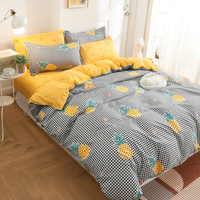 Copripiumino color ananas giallo lenzuolo piatto giallo set biancheria da letto federa letto matrimoniale matrimoniale king size