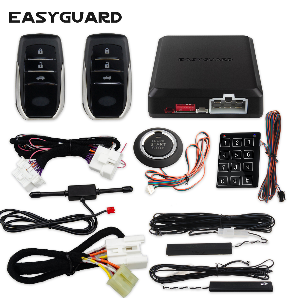 EASYGUARD Start Stop For Toyota Plug And Play Can Bus Compatible Keyless Entry Push Start System Remote Engine Start DC12V