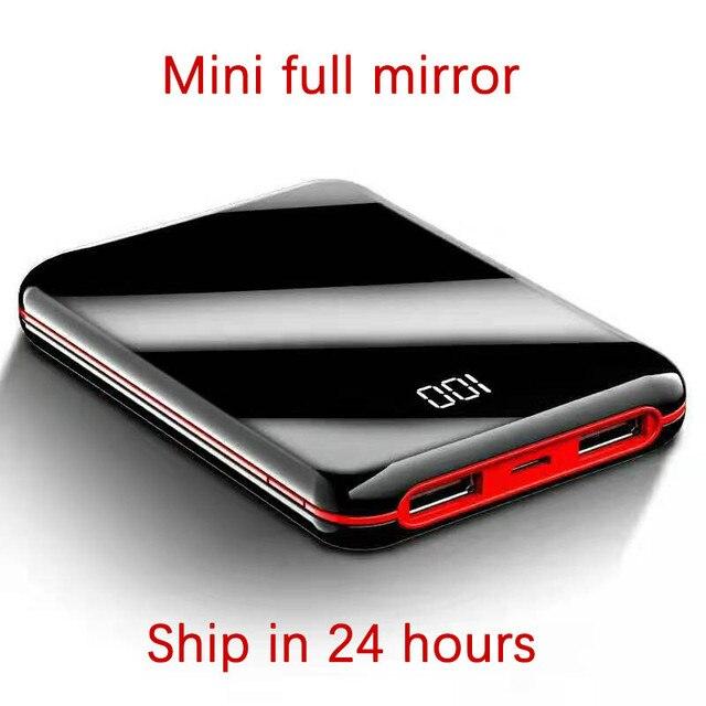 Gorąca sprzedaż Mini PowerBank 30000mah PowerBank LED bateria zewnętrzna 2 przenośna ładowarka USB do Dropshipping