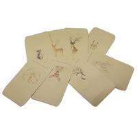 Retro Kraft Paper Envelope Bag Small Deer Wedding Invitation Greeting Card Photo Package Box Letter Scrapbook Gift Storage Pouch