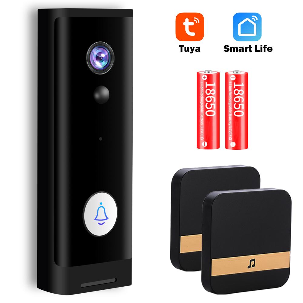 Tuya 1080P HD Video Doorbell Camera WiFi Wireless Doorbell Smart Home Door Bell Camera Outdoor Mini Video Intercom Two Way Audio