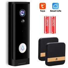 Tuya-timbre inalámbrico con cámara de vídeo, 1080P, HD, WiFi, timbre de puerta inteligente para el hogar, minicámara de vídeo para exteriores, Audio bidireccional