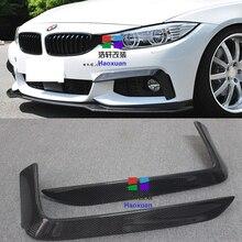 цена на F32 F33 F36 M-Sport Carbon Fiber Auto Car Front Lip Splitter Cover trim for BMW 420i 425i 430i 440i M-Tech 2014 2015 2016