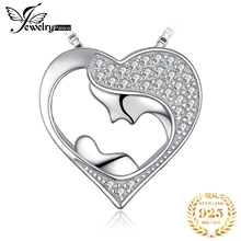 Mother and Child Silver Pendant Necklace 925 Sterling Silver Choker Statement Necklace Women Silver 925 Jewelry Without Chain 925 pure silver silver manufacturers china wind auspicious elephant pendant and intime stereo sweater chain pendant