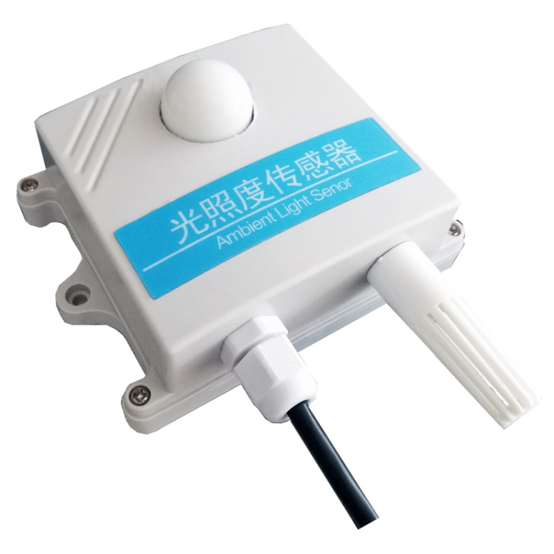 Illuminance Light Intensity Sensor Agricultural Meteorological Temperature And Humidity In One 485 Output Illuminometer