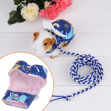 1pcs Small Pet Dog Cat Squirrel Harness Cartoon Printed Puppy Rabbit Vest Clothes With Lead Leash Traction Rope Collar