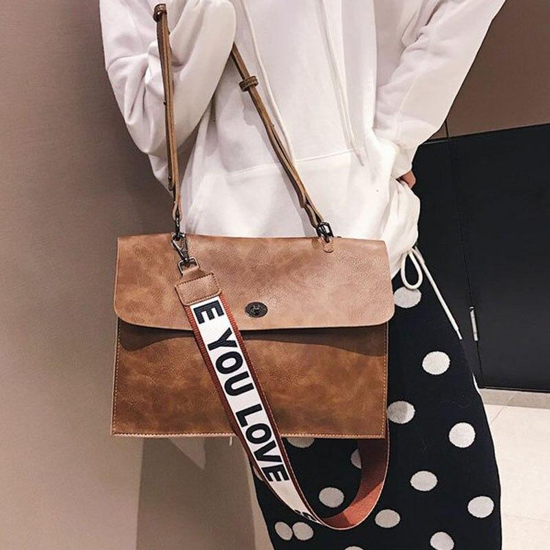 Women Briefcase PU Leather Laptop Shoulder Satchel Computer Bag For 14 Inch Laptops Vintage Crossbody Messenger Bag For Girls