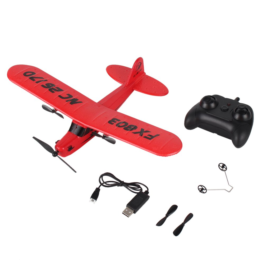 Hot OCDAY FX803 Remote Control RC Plane Glider Aerodone Toy Children Audult 150m Foam Airplane Red Blue Battery Drones image