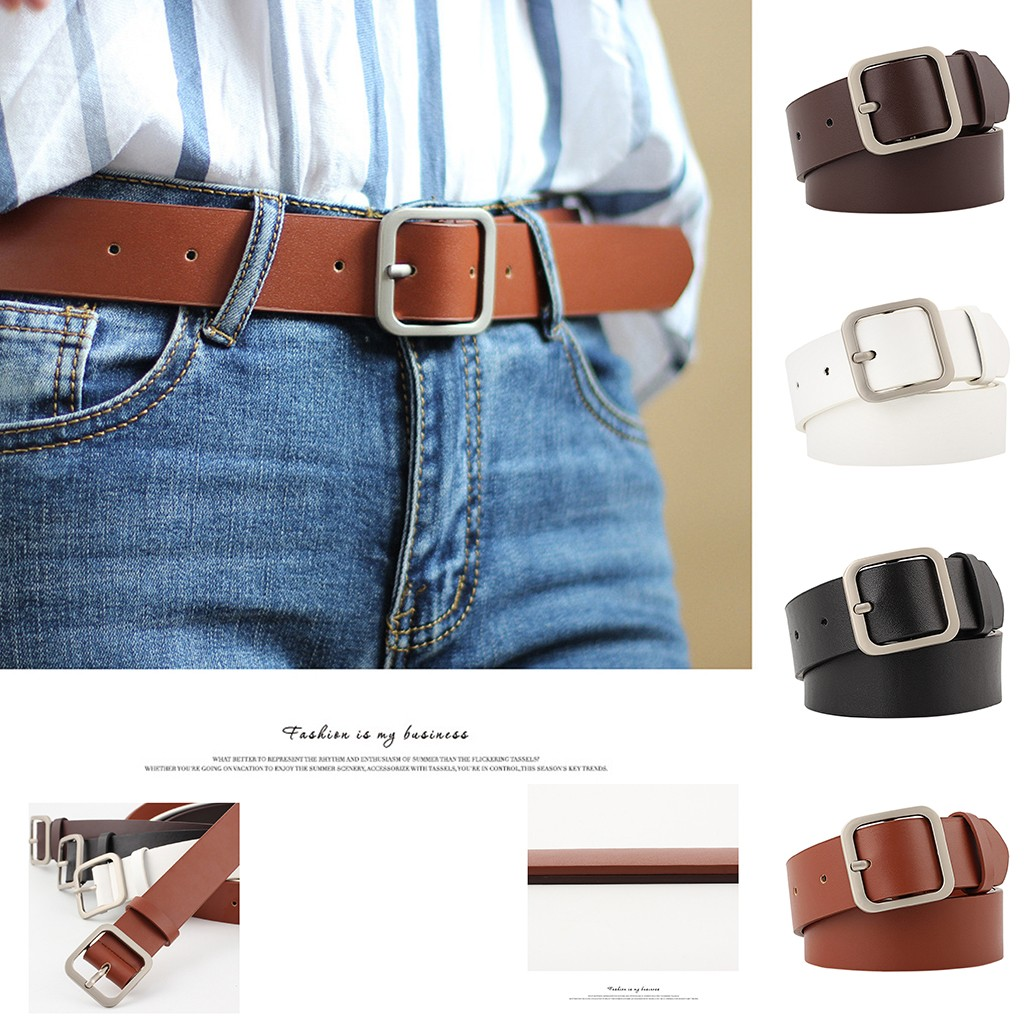 Are You Sure Not To Click In And See? New Ladies Belt Square Buckle Fashion Trend Wild Decorative Belt Dropshipping 2020