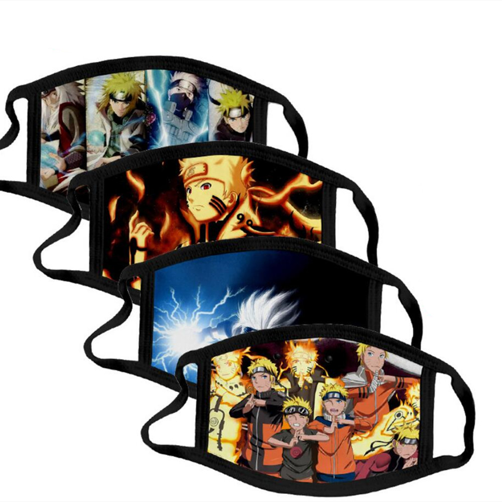 Anime Naruto Cotton Street Sports Half Face Dust-Proof Daily Protection Masks