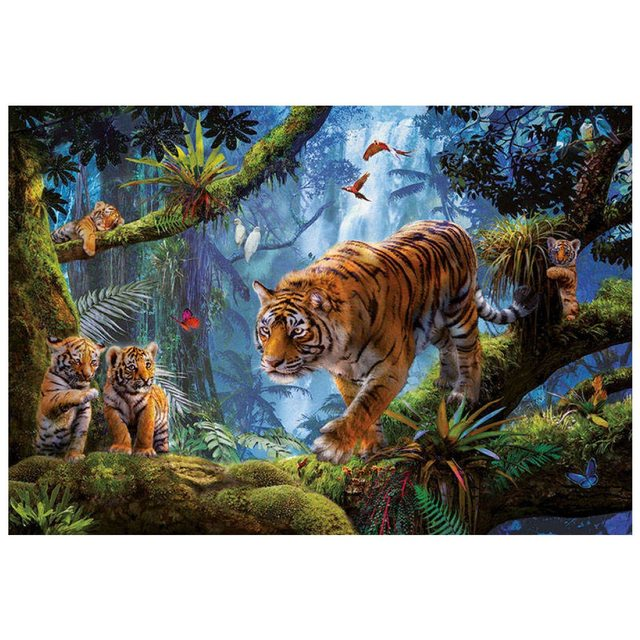 Пазл Тигры на дереве Educa 1000 деталей