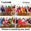 4 шт., флаги для офиса, 14 х21 см, 4 флага