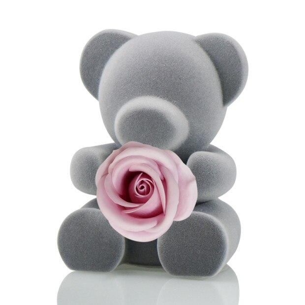 6 стилей,, свежие цветы красавицы и чудовища, красные вечные розы в стеклянном куполе, Рождественский подарок на день Святого Валентина, Прямая поставка - Цвет: pink rose bear