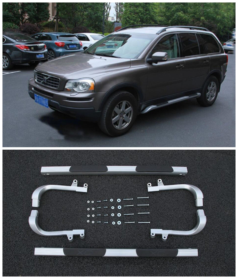 High Quality Car Aluminum Alloy Running Boards Side Step Bar Pedals Fits For Volvo XC90 1997-2014