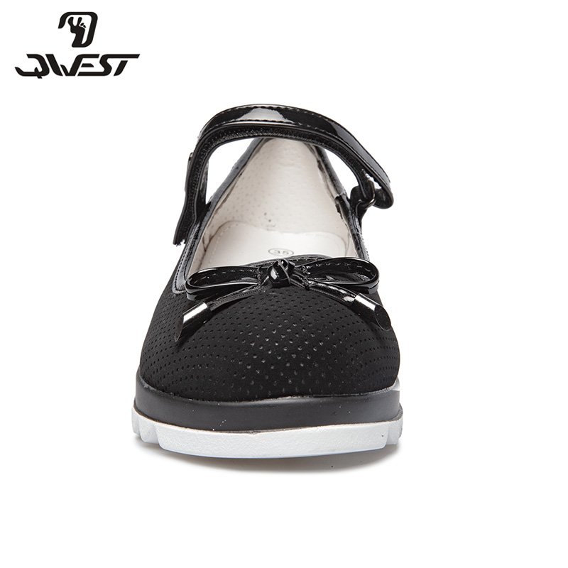 School shoes Qwest 82T JSD 0860 61 shoes for girls leather insole shoes for children 33 38 in Leather Shoes from Mother Kids