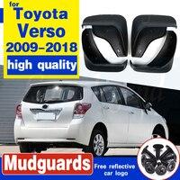 Seti araba çamur Flaps Toyota Verso 2009-2018 için Mudflaps Splash muhafızları çamur flep çamurluklar çamurluk 2010 2011 2012 2013 2014 2015
