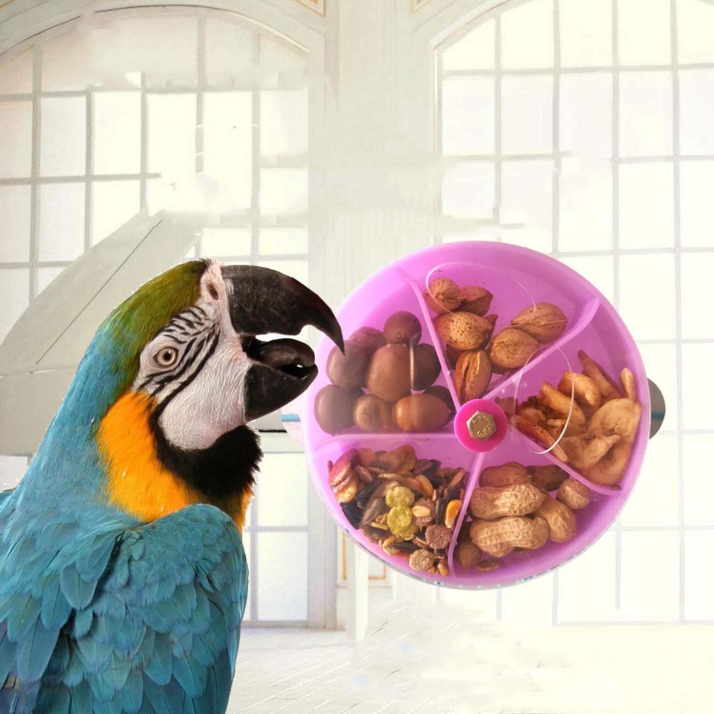 New Parrot Brain Game Toy Funny Parrot Roller Feeder Device Toys Wheels Cake Modeling Design Food Box Pet Supplies image