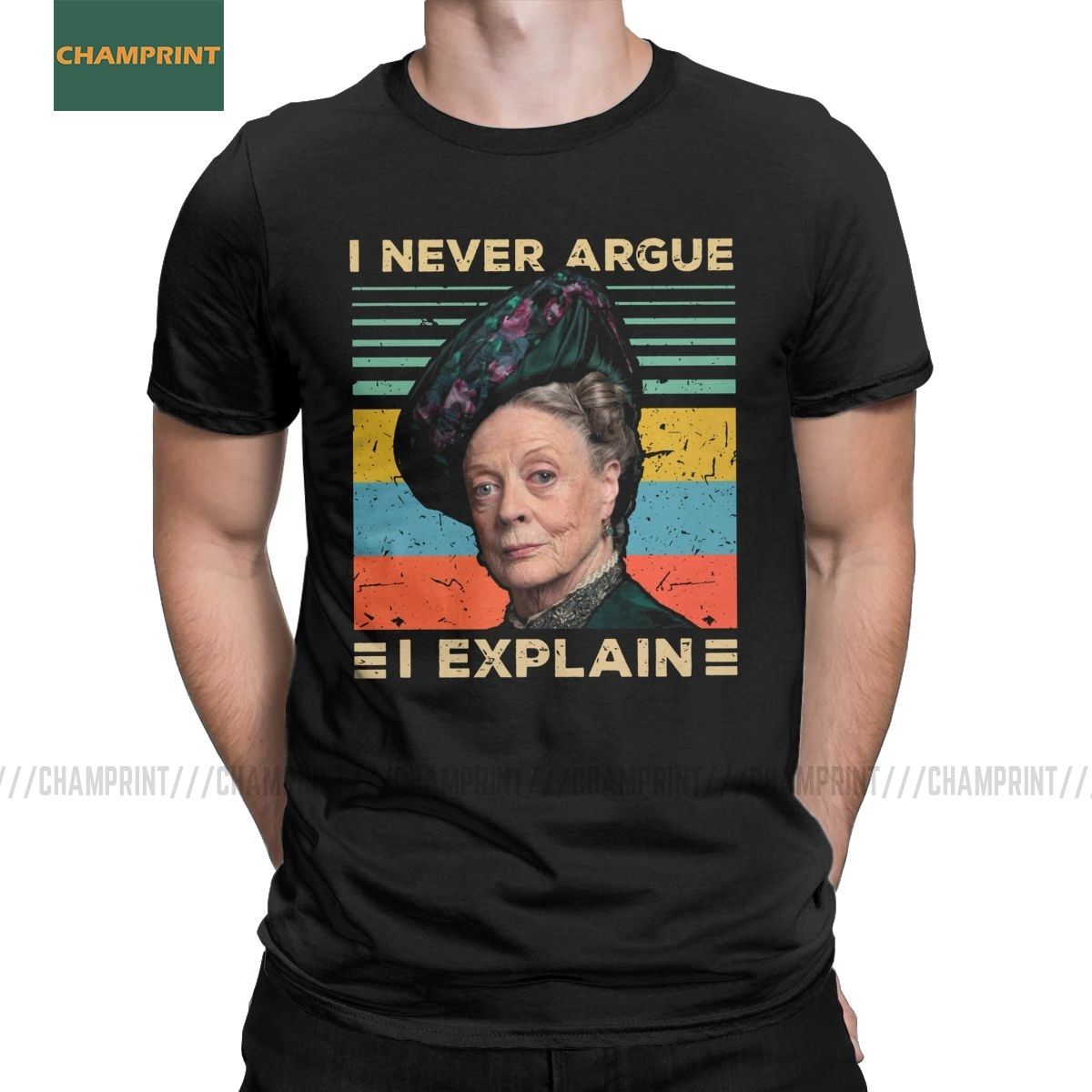 I/'m Never Wrong Lady Violet Crawley Downton Abbey Meme Black T-Shirt S-6XL