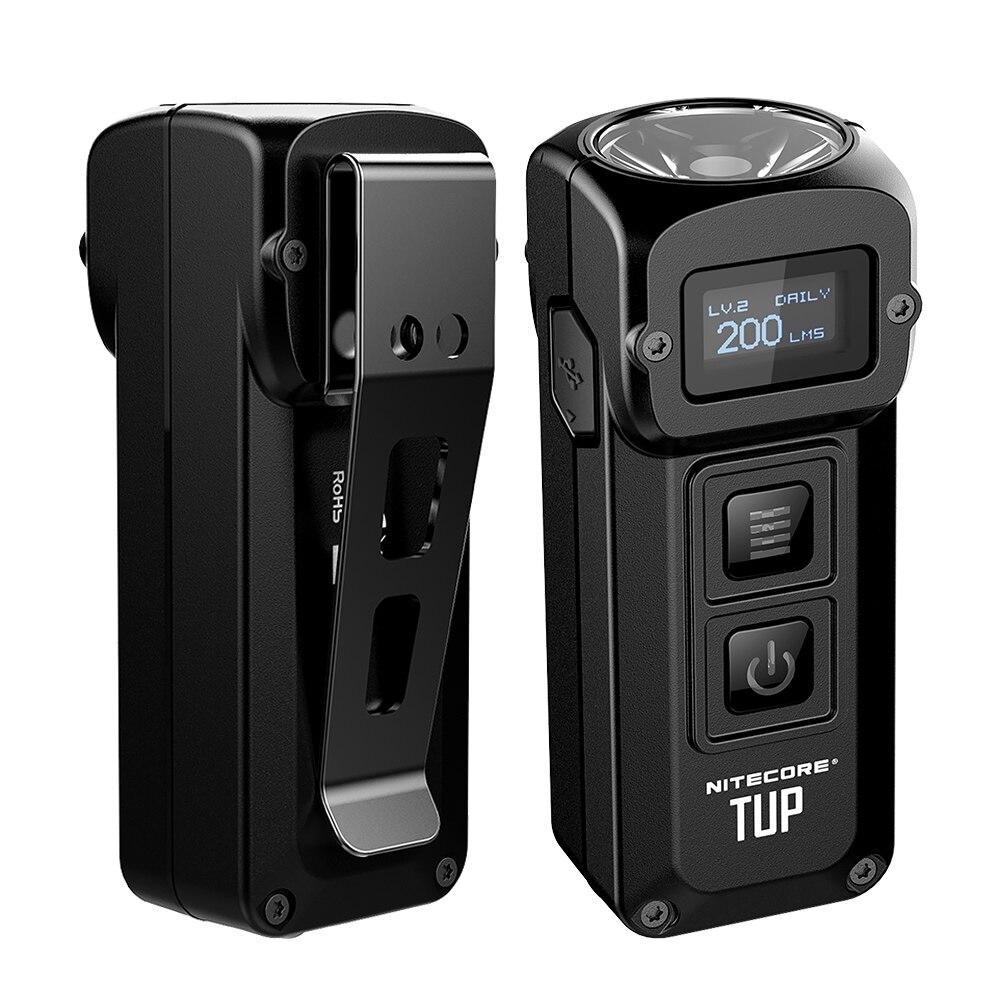 2019 NITECORE TUP USB Rechargeable 1000LM LED révolutionnaire Intelligent poche lumière en acier inoxydable porte-clés torche avec batterie