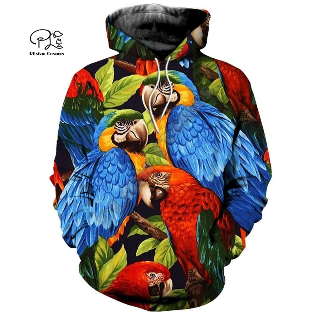 PLstar Cosmos Parrot Art Animal Tracksuit 3DPrint Hoodie/Sweatshirt/Jacket/shirts MenWomen Casual Harajuku camo colorful style-8