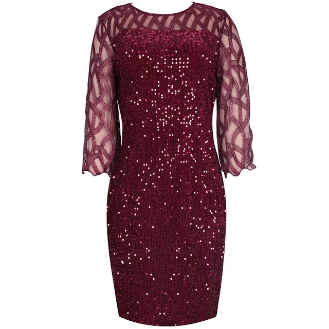 Sexy Plus Size Women's Party Dress Birthday Outfit 3