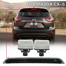 For Mazda CX-5 2013-2015 LED Third Brake Running Light Rear Fog + License Plate Lamp oem fog lights halogen lamp kit for 2014 2015 2016 mazda cx 5 cx 5 ka0h v4 600