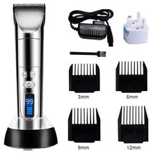 Professional Electric Hair Clippers Beard Trimmer Barber Grooming Kit Rechargeable Cordless Haircut Machine Cutting Shaver
