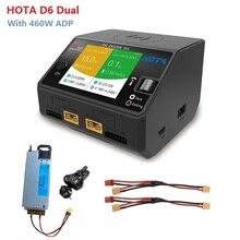 HOTA D6 Duo Lipo cargador de equilibrio de batería con 460W fuente de alimentación para Lipo León LiHV la vida de batería NiMh