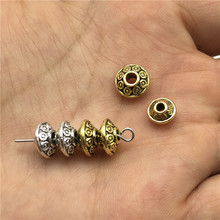 40шт Шарм диски разделены бусины Loose бусы для изготовления ювелирных изделий мода ручной работы DIY браслеты ожерелья серьги аксессуары
