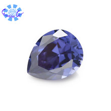 High quality gemstones, AAA,Tanzania color Pear shape Cubic Zirconia ,for jewelry making(1pcs)(China)