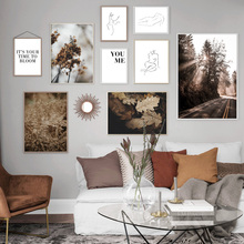 Abstract Line Girl Body Fern Leaves Road Wall Art Canvas Painting Nordic Posters And Prints Wall Pictures For Living Room Decor abstract girl figure leaves flower boho wall art canvas painting nordic posters and prints wall pictures for living room decor