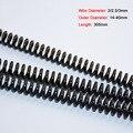 1 шт y-типа компрессионная пружинная проволока диаметром 2/2.5/3 мм Давление Весна 65 марганцевая Сталь Длина 305 мм