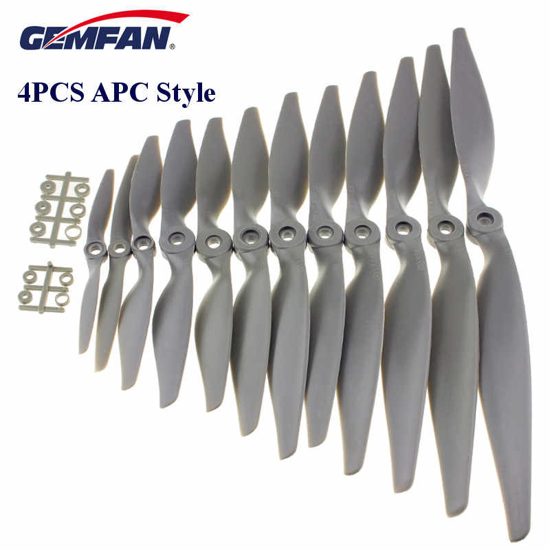 4PCS Gemfan APC Nylon Propeller 5050 6040 7050 7060 8040 8060 9045 9060 1050 1060 1070 1155 1260 1365 1470 Prop For RC Airplane