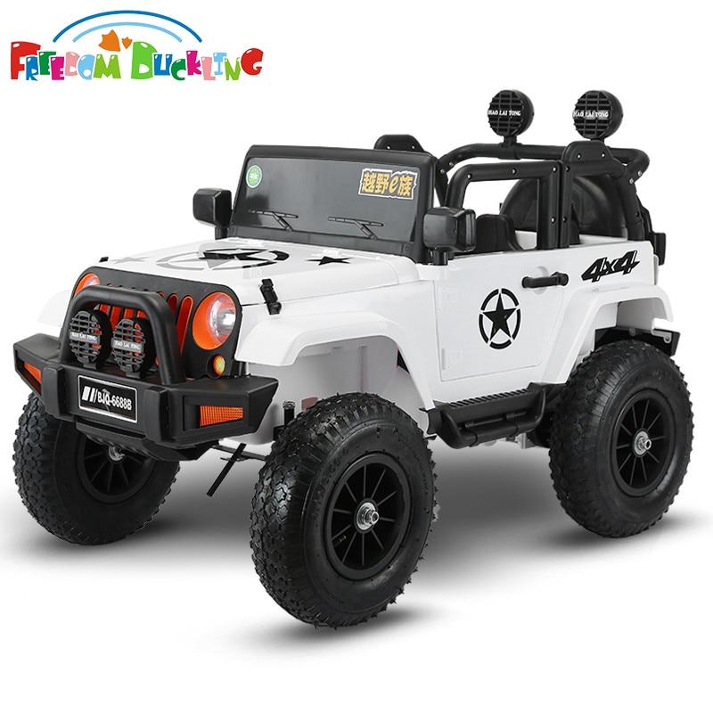 Coches eléctricos infantiles de cuatro ruedas para niños, vehículo todoterreno con rueda neumática, de 1 a 5 años