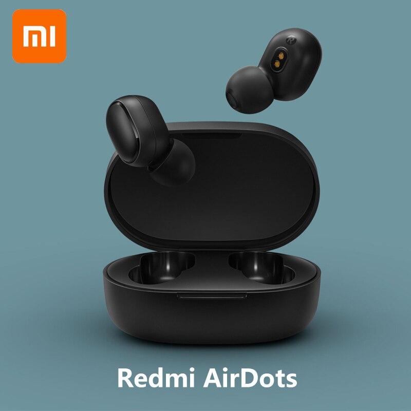 Xiaomi originais Redmi Airdots TWS Bass fone de Ouvido de Redução de Ruído Sem Fio Fone De Ouvido Bluetooth Estéreo Com Microfone Handsfree Auriculares AI