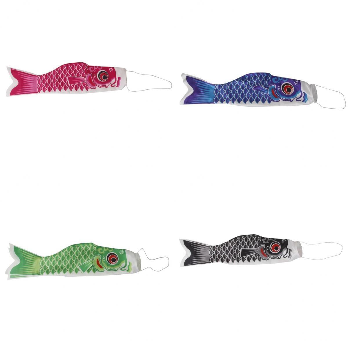 perfk 4X Hausdach H/ängen Koinobori Japanischer Karpfen Wind Socke Koi Nobori Fisch Flagge