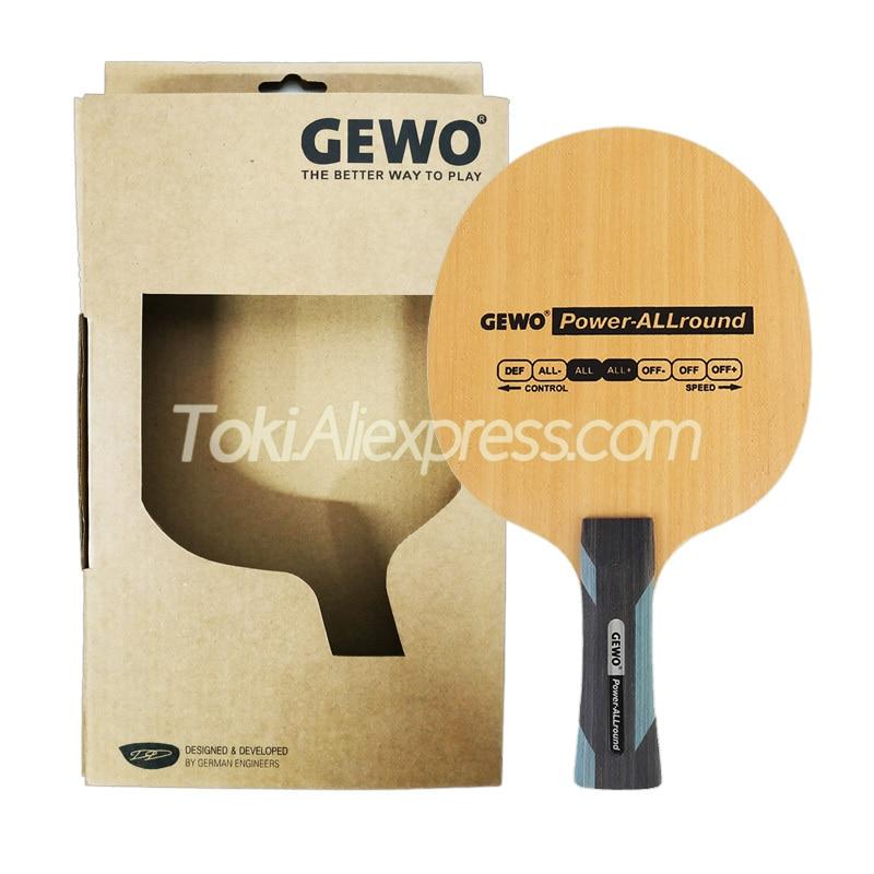 GEWO Power Allround Table Tennis Blade / Racket (ALL & ALL+) 5 Ply Wood Original GEWO Ping Pong Bat / Paddle