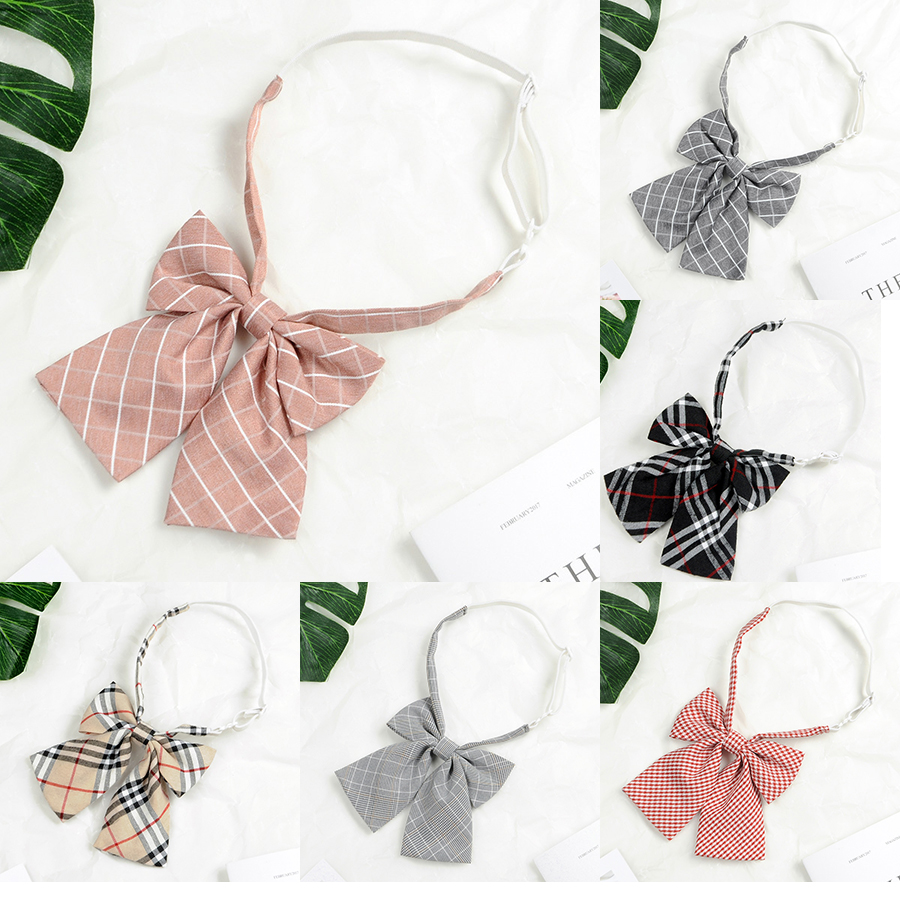 Striped Ladies Bowtie Classic Shirts Bow Tie For Women Business Wedding Bowknot Plaid Bow Ties Butterfly Girls Suits Bowties