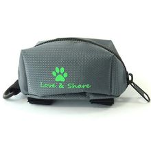 Big deal Poop Bag Dispenser, Dog Poop Bag Holder Leash Attachment – Walking, Running or Hiking Accessory (Grey)
