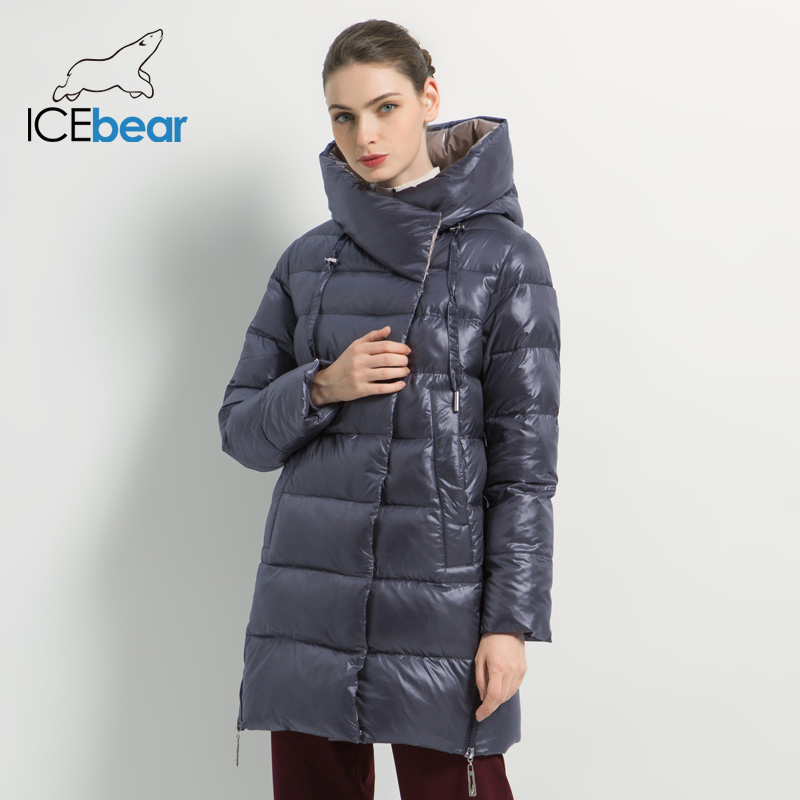 ICEbear 2019 New Winter Women's Jacket High Quality Women's Coat Fashion Warm Female Coats Brand Women's Clothing GWD19503I icebear 2017 men s winter jacket with adjustable lace fashionable warm high quality outerwear with fur 17md941d
