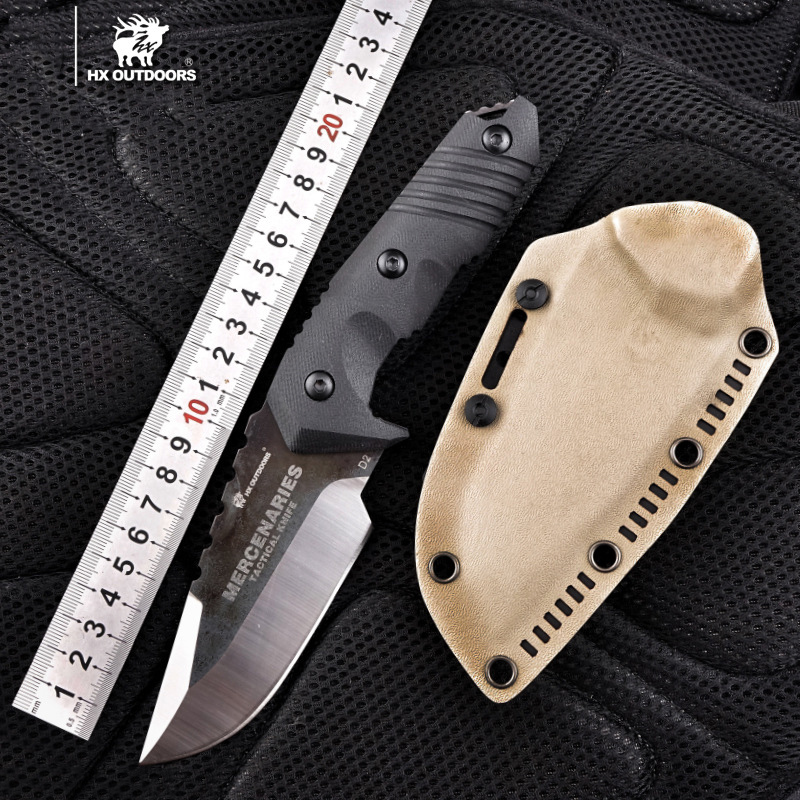 HX OUTDOORS D-169 warrior mercenaries tactical straight knife outdoor survival D2 blade Knife Bushcraft Military Fixed Knife