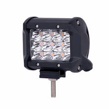 36W LED Work Light Spot 4 Inch 12 LED Bar SUV Off Road Truck Waterproof(China)