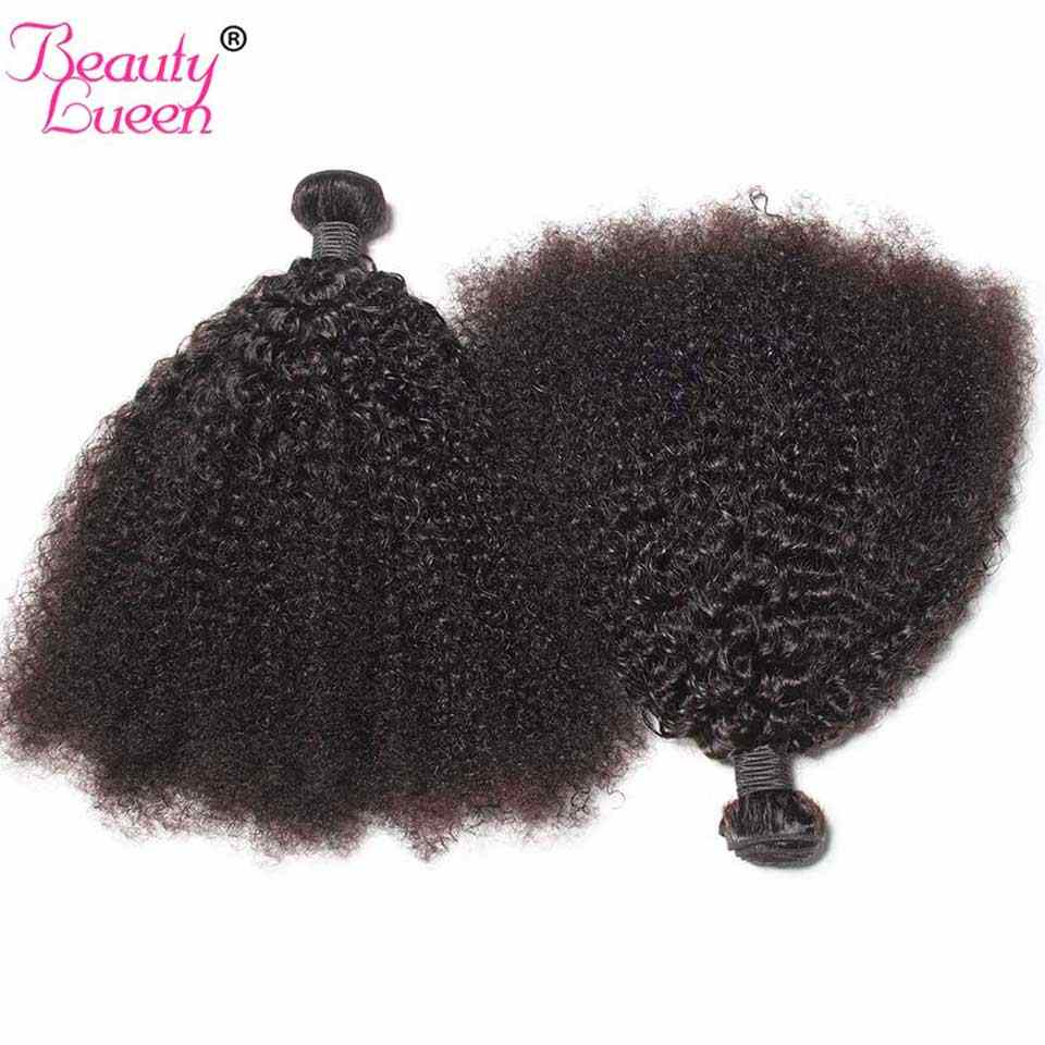 Монгольские афро кудрявые вьющиеся волосы человеческие волосы пучки 100% remy волосы 3/4 пучки красоты Lueen